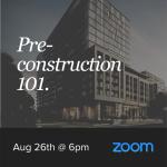 Pre-Construction Seminar - August 26th
